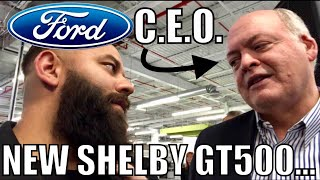 FORD CEO TALKS SHELBY GT500 & FUTURE OF MUSTANG (hybrid, 4 door, SUV) at Christmas Party