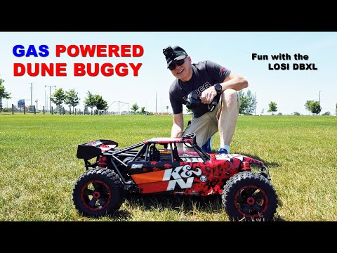 Giant Gas Powered RC Dune Buggy - Fun With The LOSI DBXL