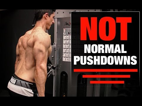 How you can Do Triceps Pushdowns
