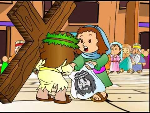 cantinho da criança jesus a caminho do calvario morre na cruz