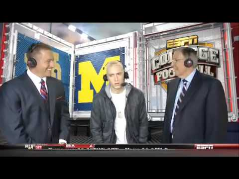 Eminem ESPN Interview - Notre Dame vs. Michigan Halftime 2013 MMLP2
