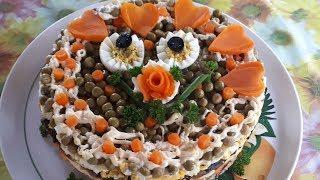 ШИКАРНЫЙ САЛАТ на праздничный стол со свиным языком. Очень ВКУСНЫЙ салат на Новый год 2020