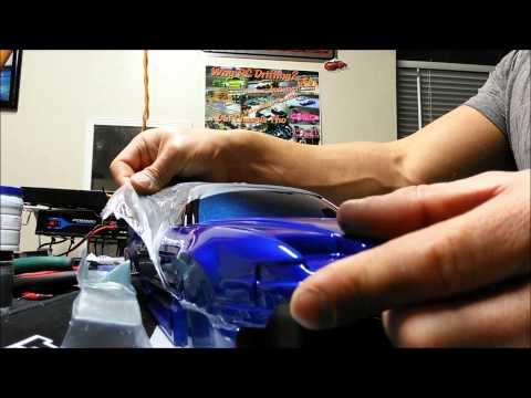 RC Drift Body Painting Tutorial 180SX Peeling Off Outer Film