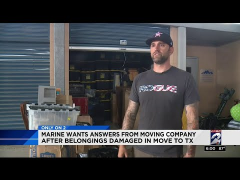 Marine Wants Answers From Moving Company After Belongings Damaged In Move To Texas