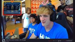 Logan Paul Full Twitch Live Stream | Logan Pauls First Stream Moments Twitch Playing Fortnite