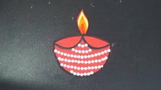Diwali Paper Craft || How To Make Diya Step By Step || Paper Diya For Diwali || Diya Making Ideas