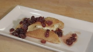 Baked Brie In Puff Pastry With Cranberries : Organic Desserts & Fruits