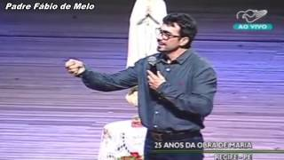 Sem enfrentamento não há mudança._Pe Fábio de Melo_25 anos Comunidade Obra de Maria_10/01/15