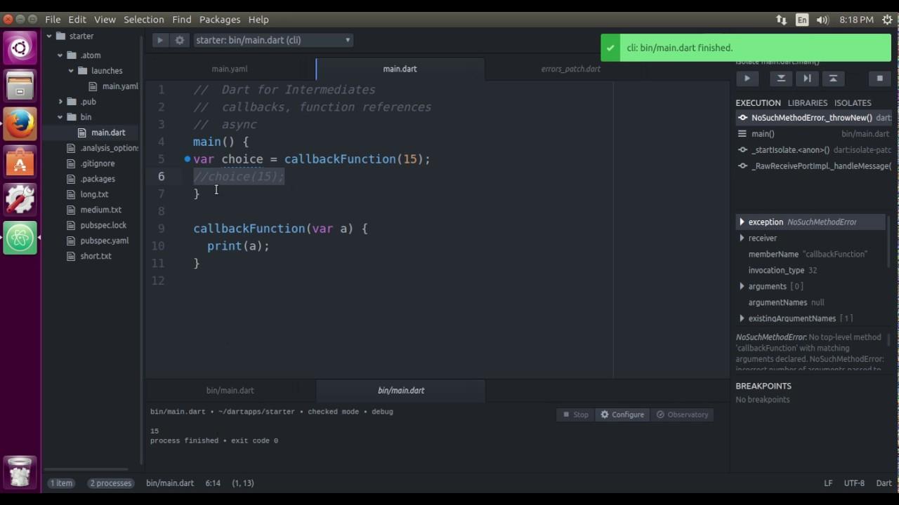 Dart Computer Programming for Intermediates: Futures 03 Callbacks