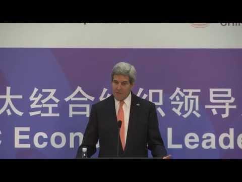 Secretary Kerry Addresses Media in Beijing
