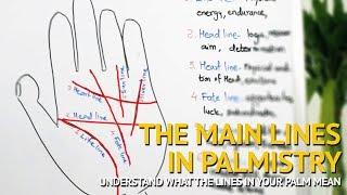 The Lines of Palmistry - LIFE Line, HEAD Line, HEART Line, FATE Line, SUN Line, LIVER Line Explained