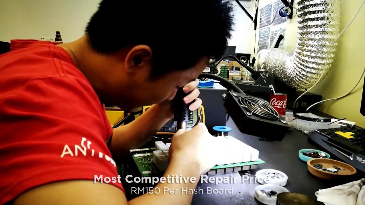 Repair Bitmain Antminer S9 Hash Board Timelapse