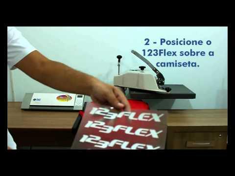 123Flex - Aplicação de 123Flex em Camiseta de Algodão - TheMagicTouch Brasil