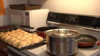 Borscht With Pampushki (ukrainian Food)