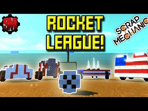 ROCKET LEAGUE in SCRAP MECHANIC! ⚽ [USA vs Canada] - Scrap Mechanic Multiplayer Monday! Ep24