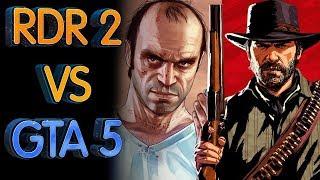 Red Dead Redemption 2 и GTA 5 как изменился открытый мир