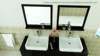 Design Element Washington Modern Double Sink Bathroom Vanity Dec083d