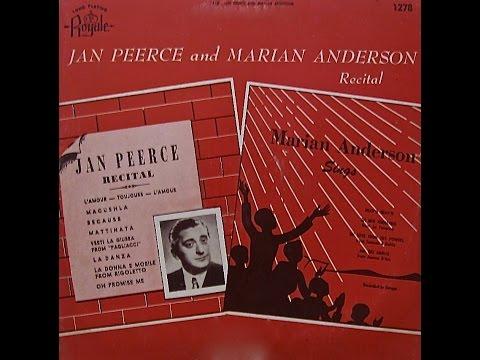 Jan Peerce and Marian Anderson Recital (Royale Records)