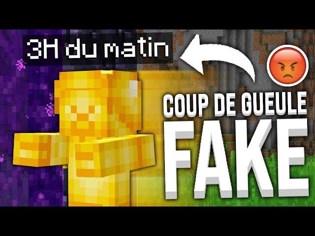 COUP DE GUEULE: LES FAKES SUR MINECRAFT !