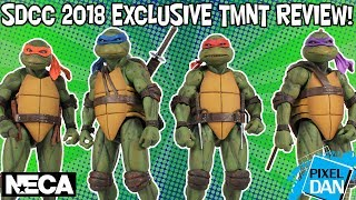 Teenage Mutant Ninja Turtles NECA Toys SDCC 2018 Exclusive Movie Figures Box Set TMNT Video Review