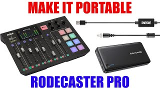 Make the Rode Rodecaster Pro Portable [ How to Use It Anywhere with a Battery Power Bank ]