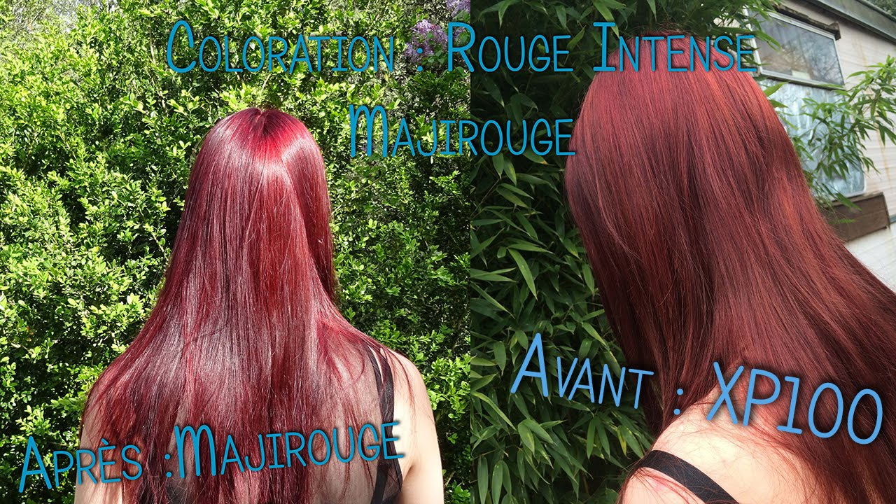 coloration blond fonc rouge intense loral majirel mix rouge x xp100 - Coloration Rouge Sans Dcoloration