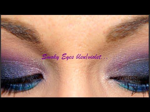 smoky eyes bleu violet youtube. Black Bedroom Furniture Sets. Home Design Ideas