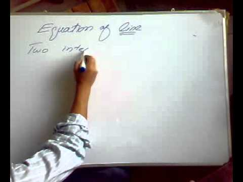 Analytical  geometry (equation of straight line).mp4