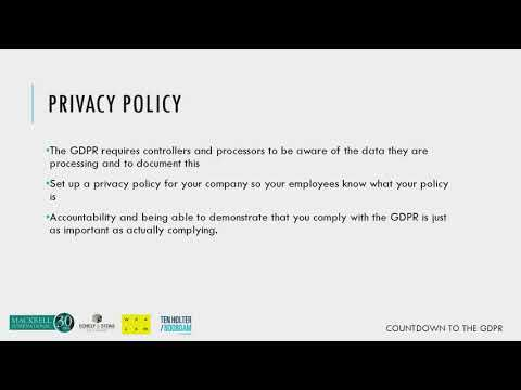 GDPR – Privacy policy