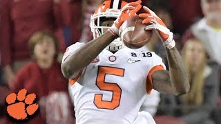 Clemson wide receiver Tee Higgins finished the 2018 season with 936...