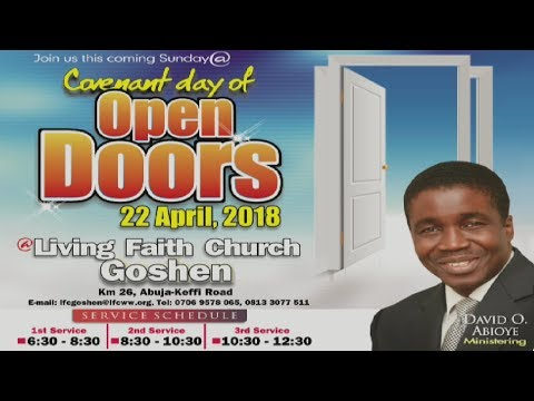 Covenant Day of Open Doors ( 1st Service ) April 22, 2018