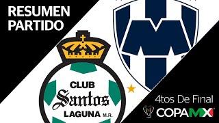 Resumen   Santos 0 - 0 Monterrey   Copa MX -  4tos de Final IDA Temporada 2019-2020  