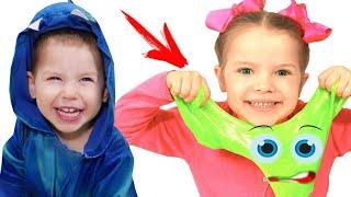 انهم يريدون نفس الوحل!!!Nicole and Misha both want the same slime