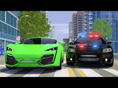 Wheel City Heroes (WCH) - Sergeant Lucas the Police Car | Catching the Jax Race Car | Video for Kids