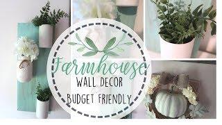 Pinterest Inspired Farmhouse Wall Decor   Budget Friendly Decor   Free Wall Decor   Farmhouse Diy