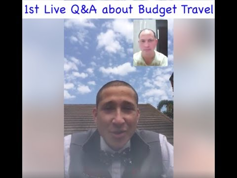 Q&A Live About Budget Travel Tips, Tricks and Hacks with Jon