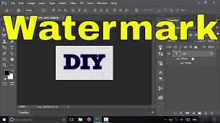 How To Create A Watermark In Photoshop CC-EASY Tutorial
