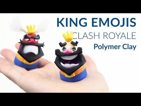 #2 King Emojis (Clash Royale) – Polymer Clay Tutorial