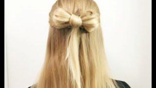 Прическа Бантик из волос на длинные волосы. Очень красивая прическа.