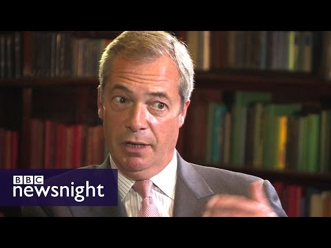 Nigel Farage on migrants, EU and the Syria crisis (FULL UNCUT) - Newsnight