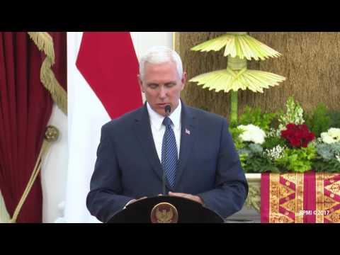 Penyambutan Wakil Presiden Amerika Serikat