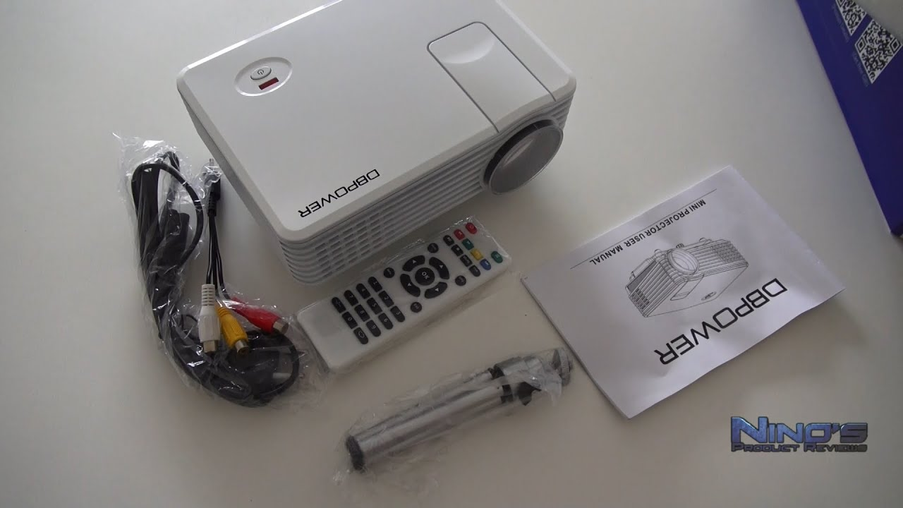 Mini led projector rd805 review deutsch youtube for Small video projectors reviews