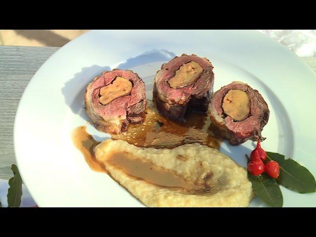 Recette : canard fourré au foie gras