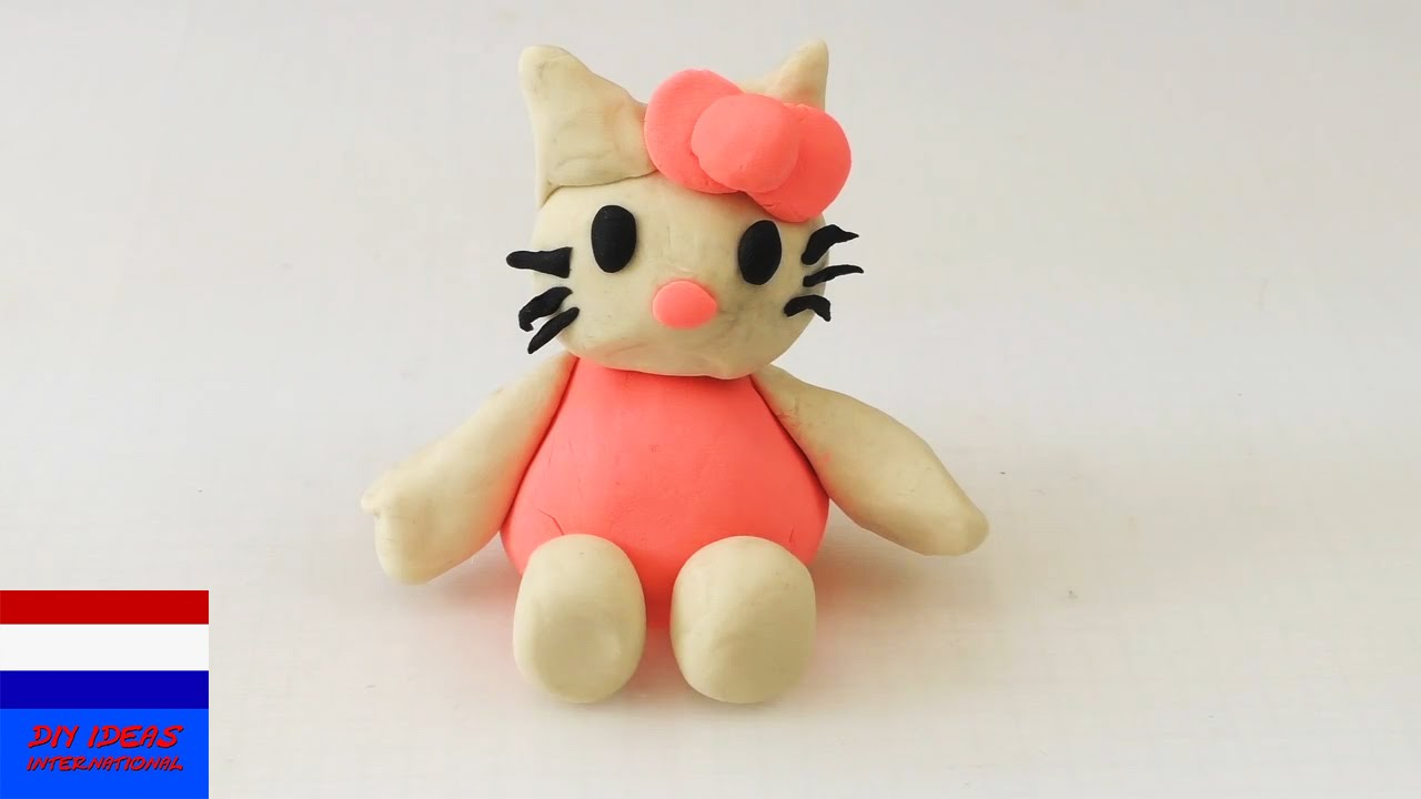 Play Doh Hello Kitty Boetseren Met Klei Eenvoudige Handleiding