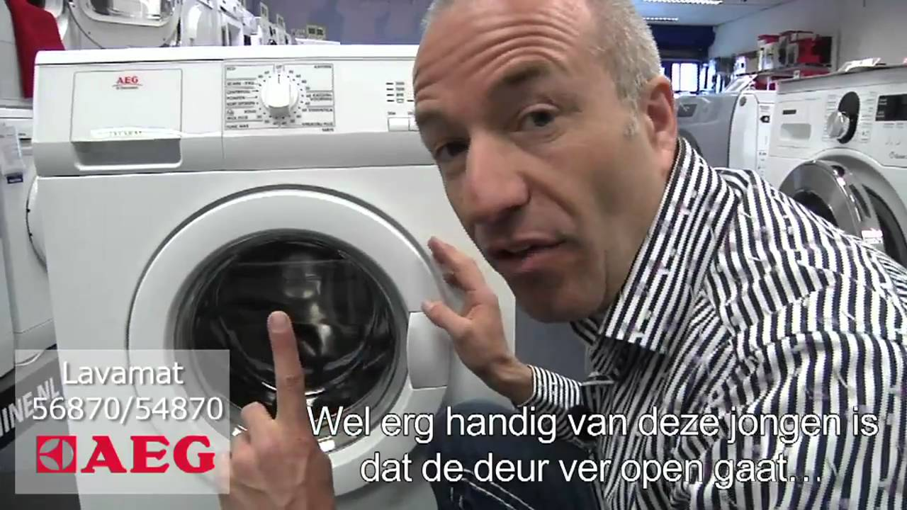 Aeg Wasmachine 1600 Toeren Aeg Wasmachines Lavamat 56870 En 54870 Top Aeg Lavamat Wasmachines Demo Video