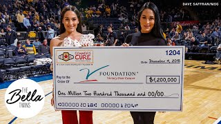 The Bella Twins help fight pediatric cancer at the Jimmy V Classic!
