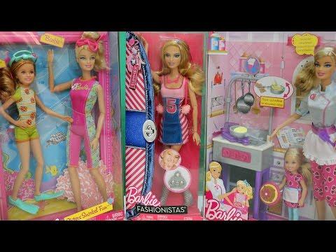 Mở Hộp Búp Bê Barbie Nấu Bếp, Búp Bê Barbie Lặn Biển, Búp Bê Barbie Summer