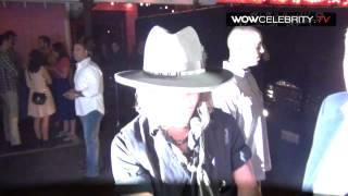 Johnny Depp Arrives At Pink Taco In Hollywood