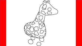 Download How To Draw A Giraffe From Roblox Adopt Me Step By Step