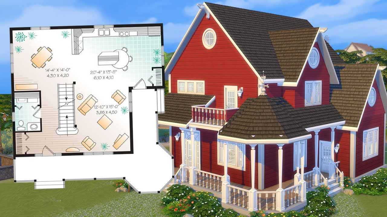 Can I recreate this real house in The Sims 20 from a floor plan